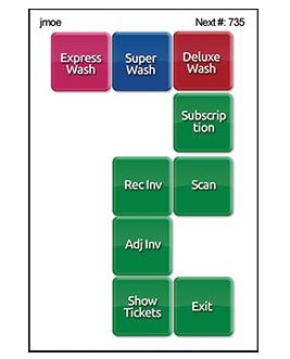 ezWash Mobile Handheld Screens