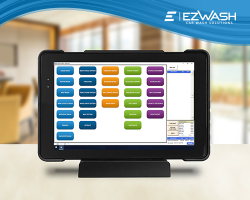 ezWash Car Wash Point Of Sale Software POS Handhelds