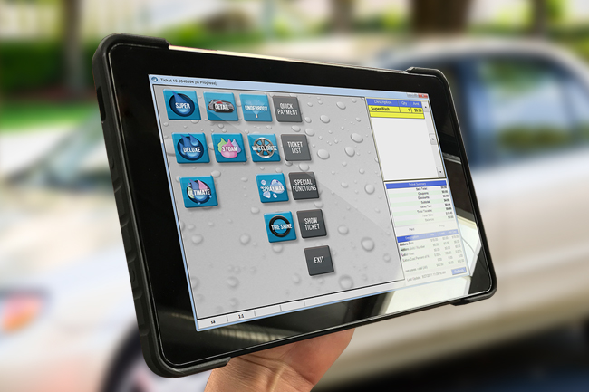 ezWash Handheld Car Wash Point Of Sale Software POS